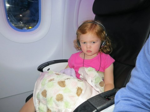 A few years later - enjoying her own seat.
