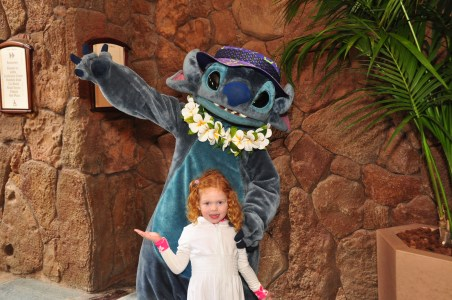 Stitch was a fixture around the resort.