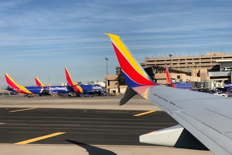Flying Southwest with Kids - Southwest Planes at Airport