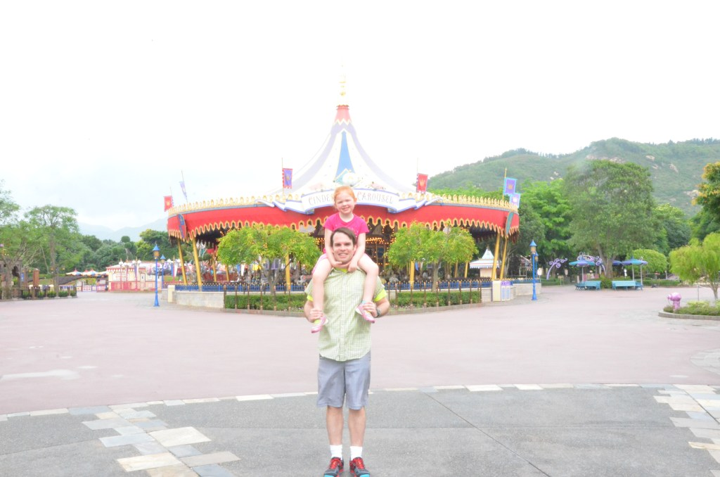 Carousel in Fantasyland in Hong Kong Disneyland