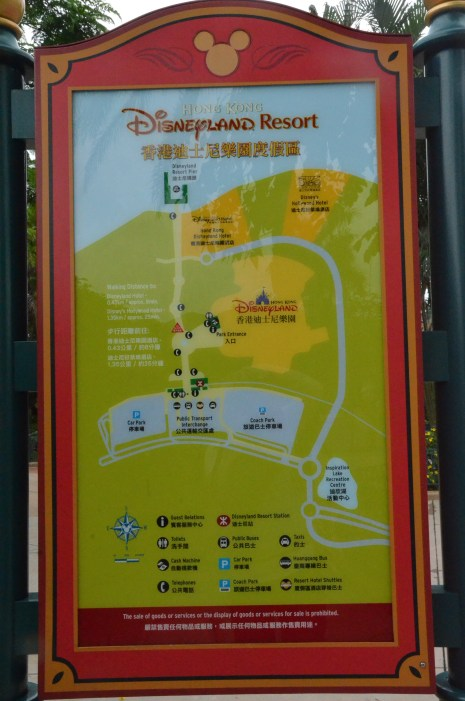 Hong Kong Disneyland Property Map Showing Hotels