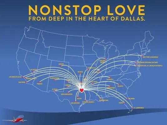 Southwest Dallas Love Routes