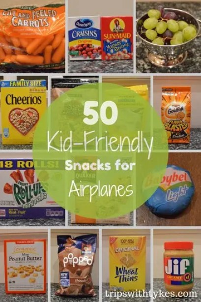 50 Kid-Friendly Snacks for Airplanes | Trips With Tykes
