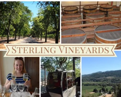 Sterling Vineyyards in Calistoga, California