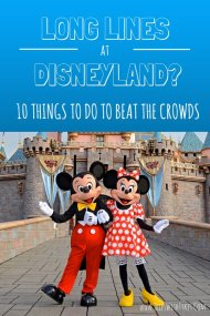 10 Things To Do on a Crowded Day in Disneyland. | Don't let long lines and big crowds ruin your Disneyland vacation. Enjoy the happiest place on earth just as much by exploring something other than just the Disneyland rides.