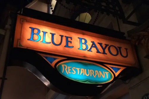 Blue Bayou Sign Disneyland