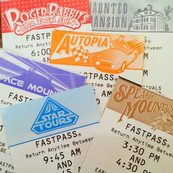 Disneyland MaxPass - Previous Paper Fastpass System