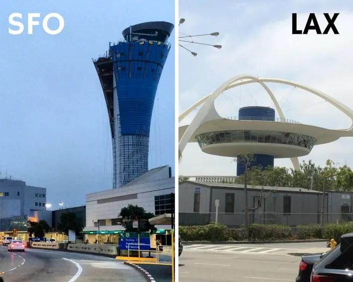 SFO to LAX