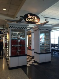 Navigating Oakland Airport with Kids: See's Candy in Terminal 2