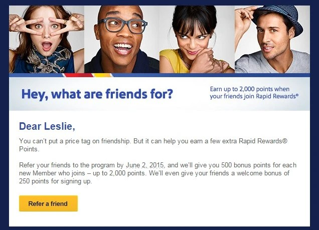 Southwest Refer-A-Friend Promotion