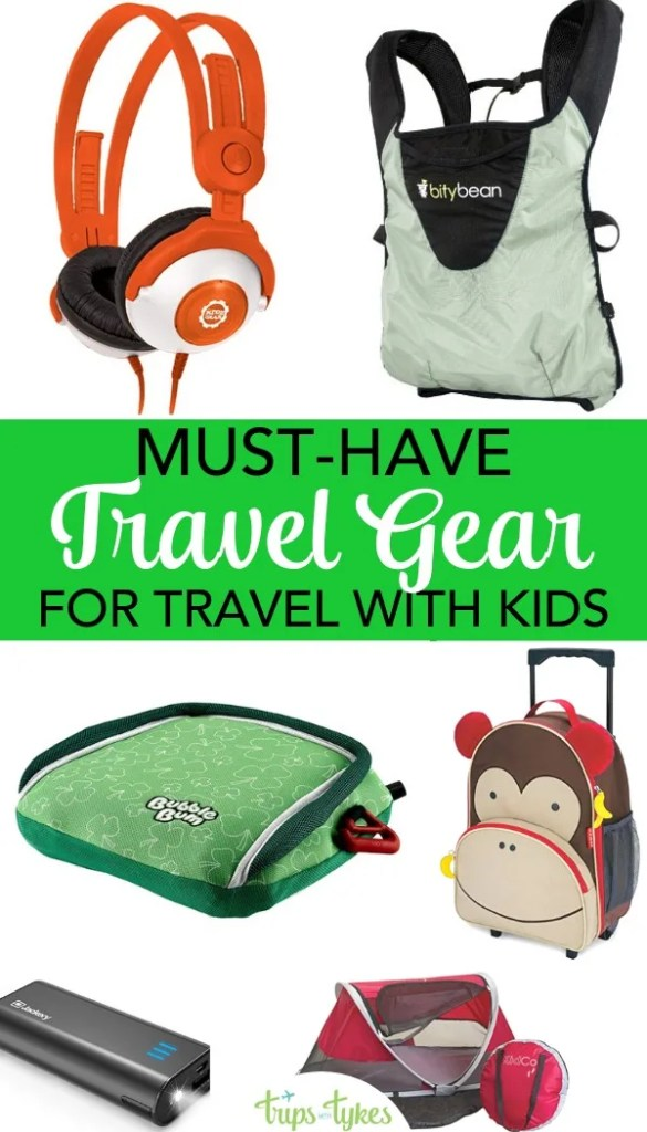 Looking for the very best travel products for travel with kids? Electronics, luggage, and other essential gear for flying and road trips with babies, toddlers, older kids, and the whole family. #travelgear #familytravel #travelwithkids