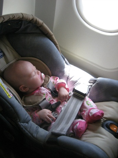 Car Seat On A Plane  Year Old