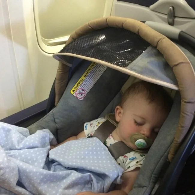 Car Seats on Planes - Infant Seat