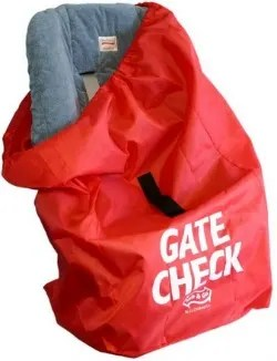 Bag your car seat when you check it to protect from dirt and grime.