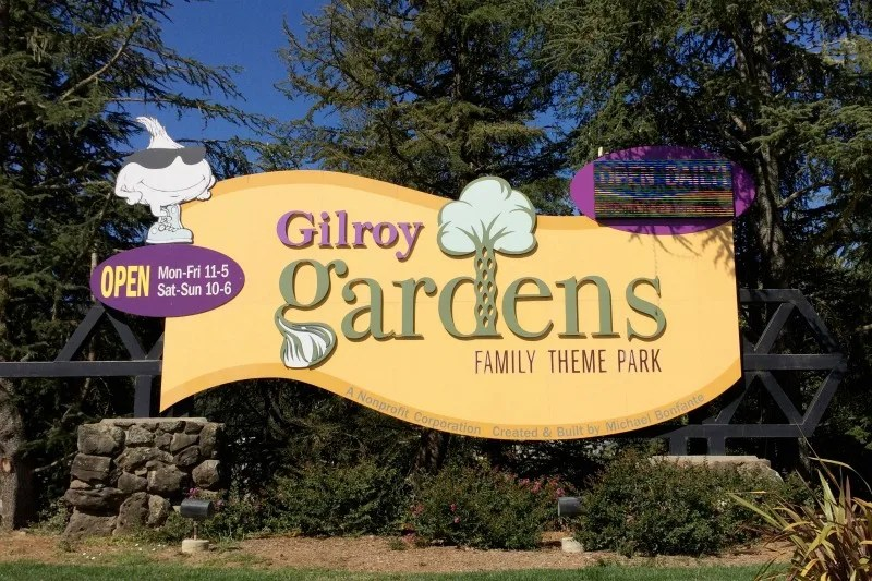 Gilroy Gardens Review - Entrance Sign