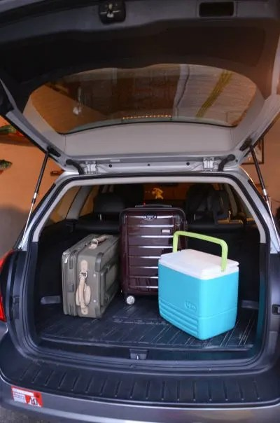 Less Mess Road Trip Tips - Car Trunk