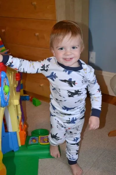 Travel and Diapers Modeling Airplane PJs