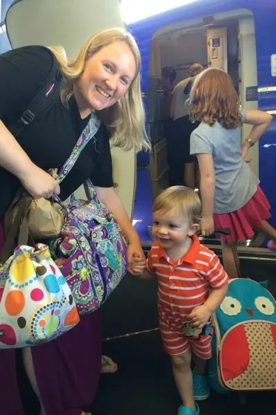 Travel with Diapers Boarding Southwest Flight with Toddler