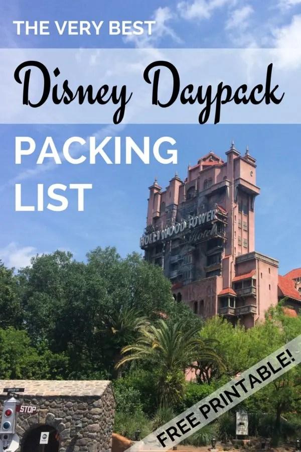 Ultimate Disney Daypack Packing List