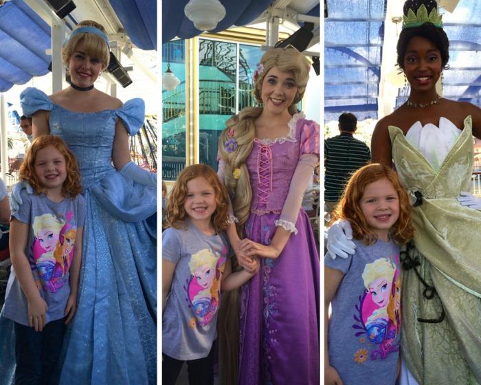 Disneyland Character Meals Princesses at Ariels Grotto