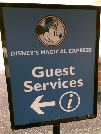 Flying to Disney World Magical Express Airport Sign