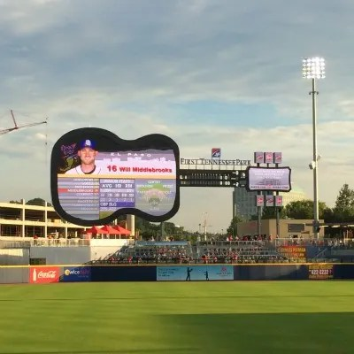 Nashville with Young Kids - Nashville Sounds Scoreboard