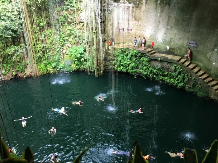 A stop at Cenote Ik Kil is a can't miss when visiting Chichen Itza with kids