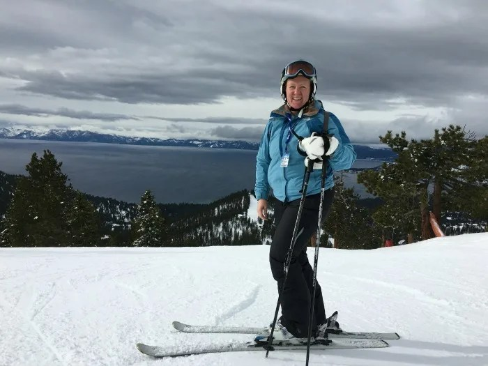 Skiing Diamond Peak with Kids - Lake Views