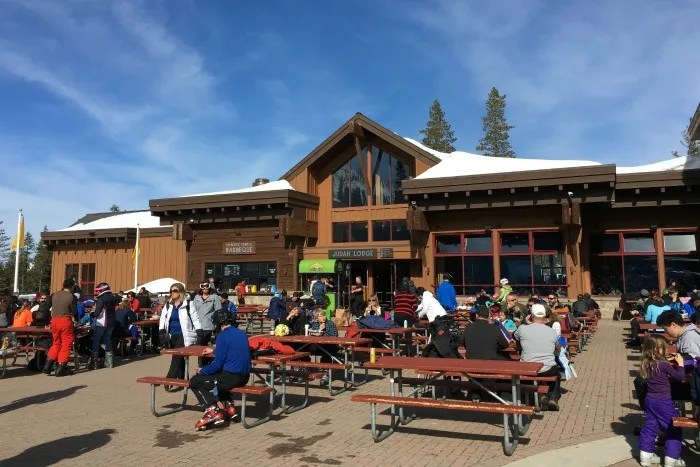 Skiing Sugar Bowl with Kids - Judah Lodge Outdoor Seating