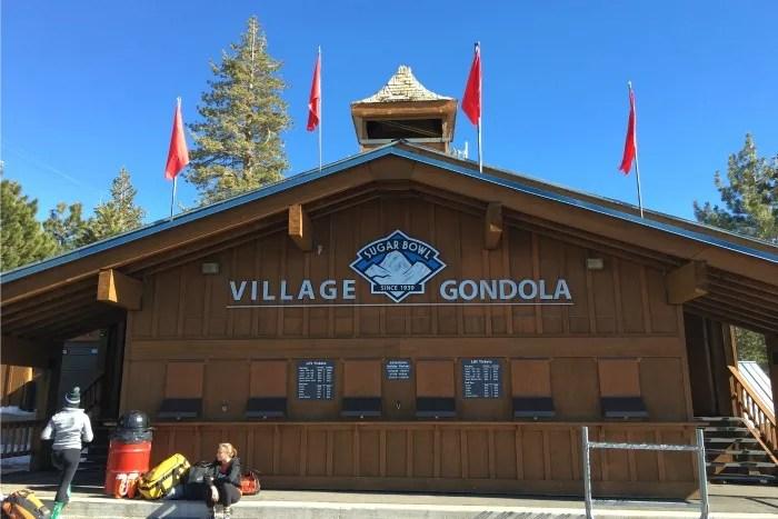Skiing Sugar Bowl with Kids - Village Gondola