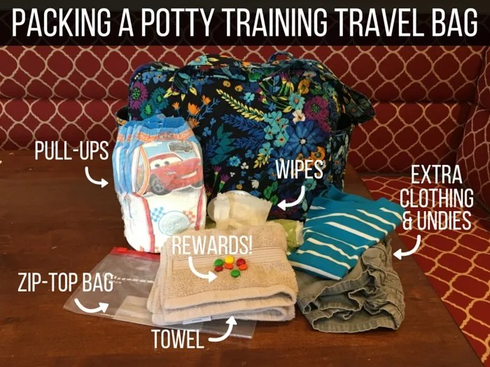 Potty Training During Travel - Diaper Bag Packing List
