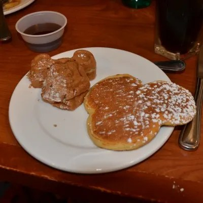 Surf's Up! Breakfast - Mickey Waffles and Pancakes