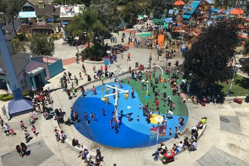 Californias Great America with Kids - View from Delta Flyer
