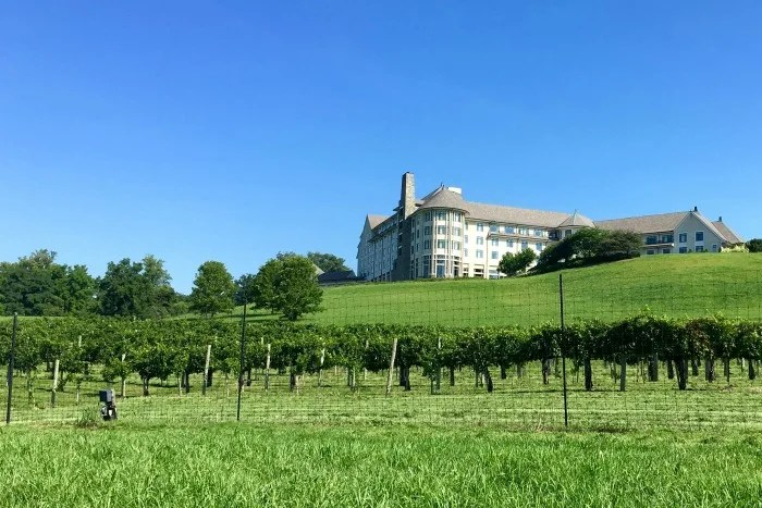 Biltmore Estate with Kids - Inn and winery view