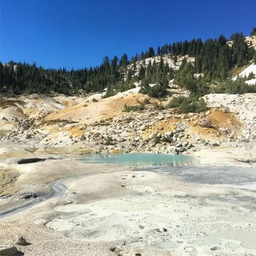 Top Fall Destinations in California - Lassen Volcanic National Park Bumpass Hell