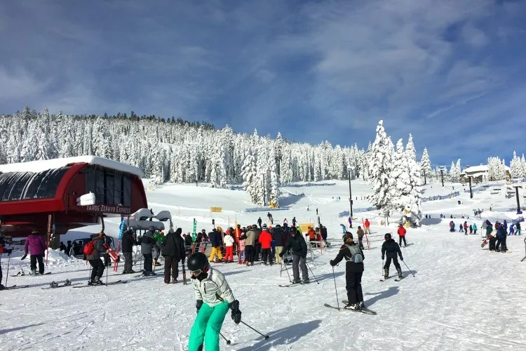 Skiing Northstar with Kids - Mid Mountain