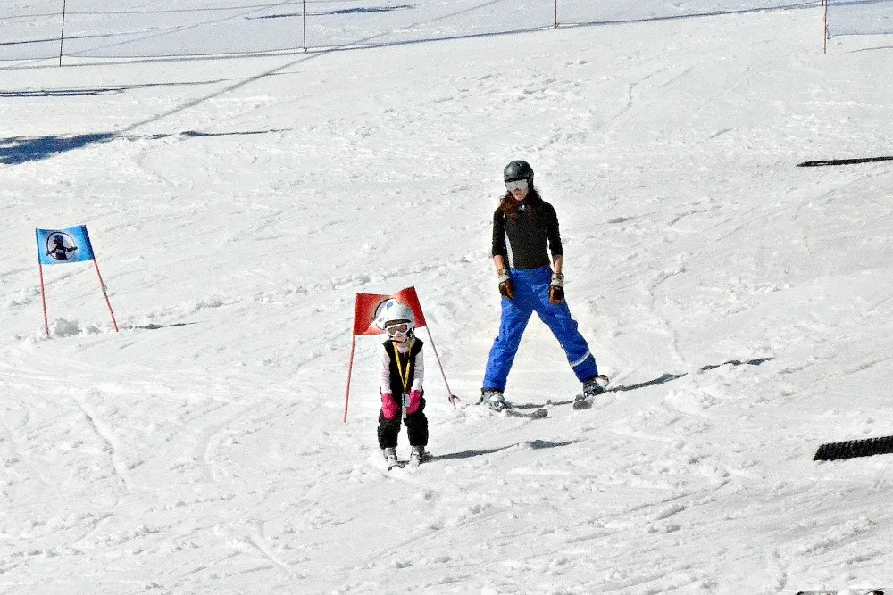 Skiing Northstar with Kids - Ski Lesson 4 year old