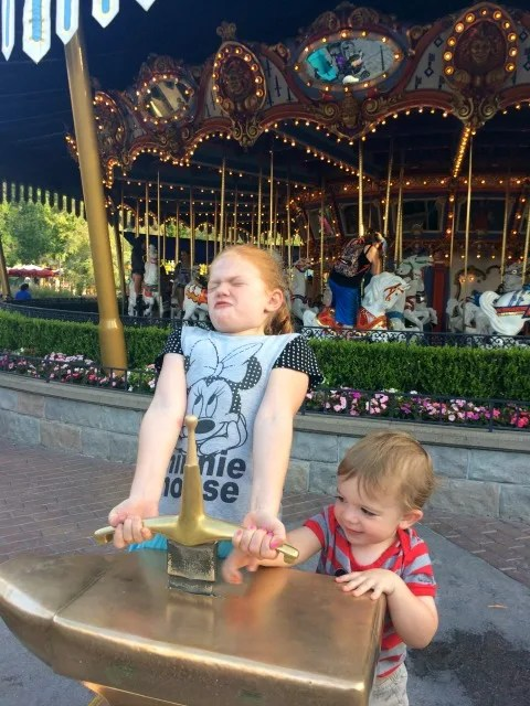 Disneyland with Preschoolers Sword in the Stone