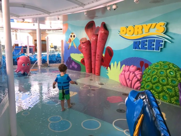 Disney Cruise Line with Toddlers and Preschoolers - Dorys Reef Splash Pad