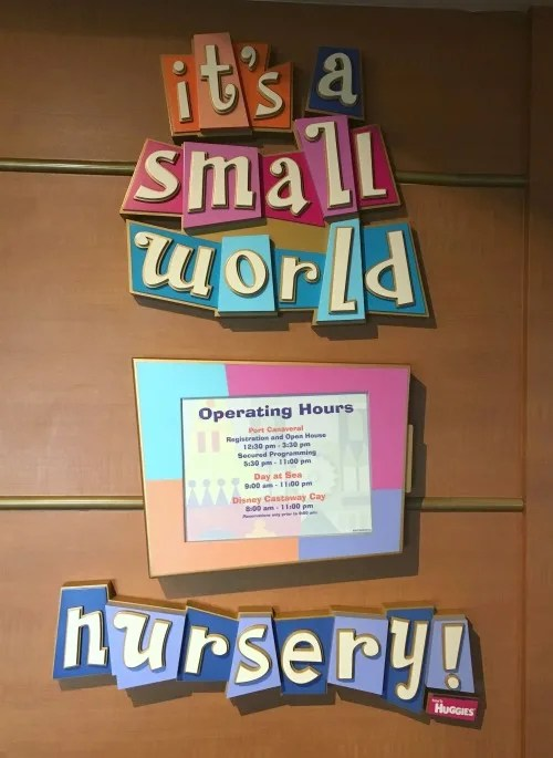 Disney Cruise Line with Toddlers and Preschoolers - its a small world nursery