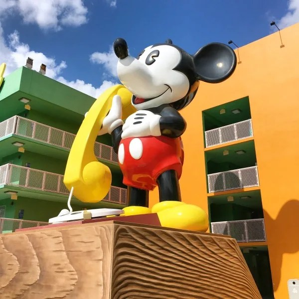 Disney World Resorts - Pop Century Mickey Phone