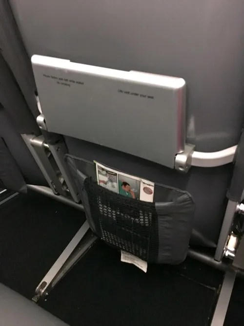 Frontier Airlines - Seatback Tray Table