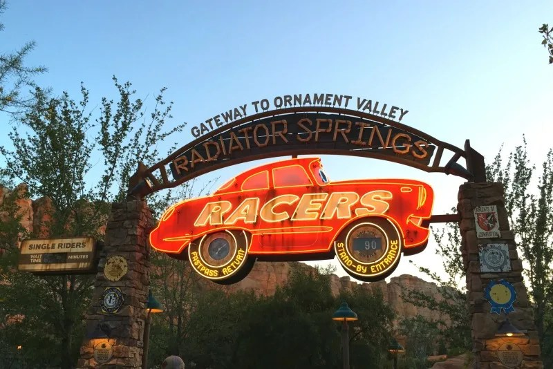 Disney Attractions Around the World - Disneyland Cars Land Radiator Springs Racers