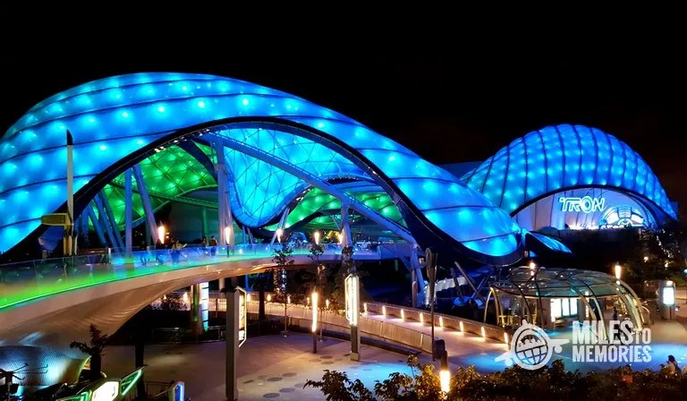 Disney Attractions Around the World - Shanghai Disneyland Tron Light Cycles