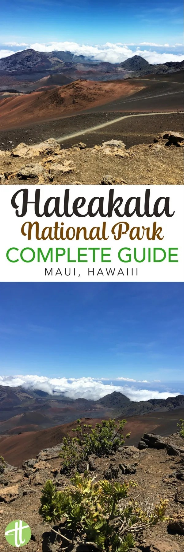 The Ultimate Guide to Haleakala National Park in Maui, Hawaii. Important travel tips whether you are hiking the volcano crater, biking down the summit, planning a sunrise or sunset visit, or considering your tour and driving options.