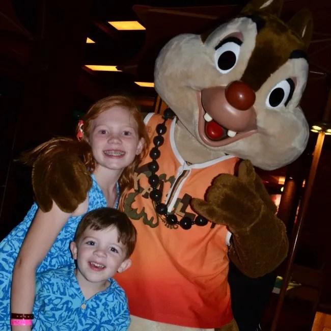 Disney Aulani Splurges - Meeting Chip at Menehune Mischief Makahiki Dinner