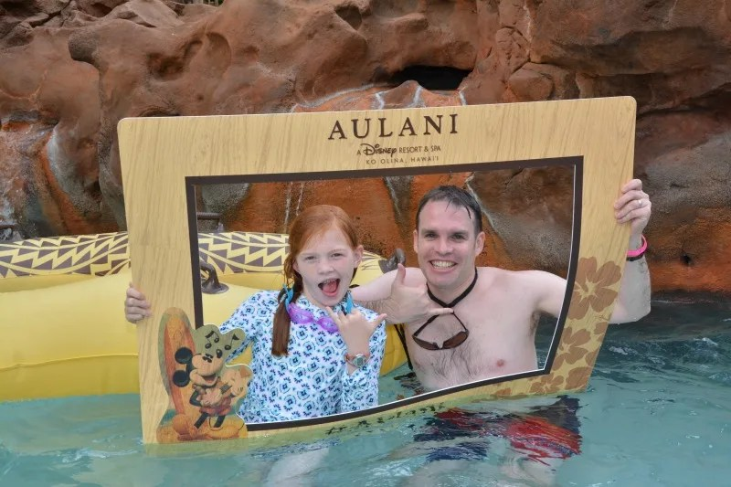 Disney Aulani Splurges - PhotoPass Lazy River Father Daughter