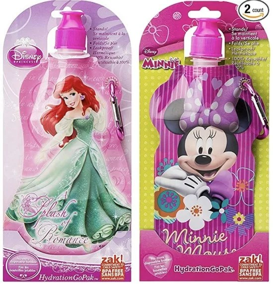 Disney Stocking Stuffer - Collapsible Water Bottles