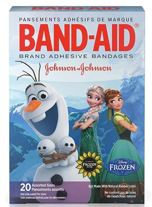 Frozen bandaids make the perfect Disney holiday stocking stuffer.