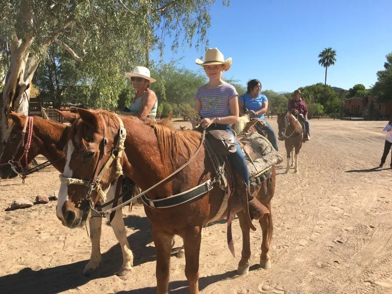 Dude Ranch with Kids - Dude Ranch Trail Ride with Kids